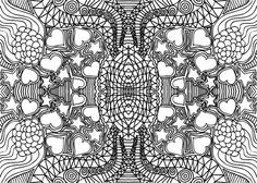 doodle coloring page hearts and stars relaxation techniques doodles and craft activities - Coloring Pages Hearts Stars