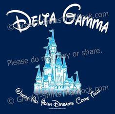 Delta Gamma girls love disney! http://www.greekt-shirtsthatrock.com/