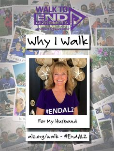 Christy Walks to #ENDALZ for her husband. Read her story at https://alzgrva.wordpress.com/2015/06/24/why-i-walk-christy-talbott/. You can now register for the 2015 Walks to End #Alzheimers! Northern Neck – Middle Peninsula; Saturday, September 19th; Fredericksburg; Saturday, September 26th; Richmond Walk to End Alzheimer's; Saturday, November 7th. Register at www.alz.org/walk #dementia #RVA #CentralVirginia #caregiver