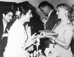 """eros-dikaios: """" Raj Kapoor and Nargis in Russia. I think 1954 or 1955. """""""
