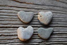 Light Color Sea Stone Hearts Beach Pebble by BalticBeachTreasures