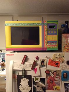 I went washi tape crazy on my microwave!!!!