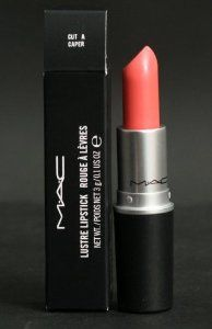 MAC Lipstick CUT A CAPER by M.A.C. $41.99. Limited edition from Heavenly Creature collection.. CUT A CAPER: midtone peachy pink.. Colour plus texture for the lips. Stands out on the runway. Simmers on the street! What made MAC famous.