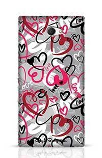 Love-Print Sony Xperia M2 Phone Case
