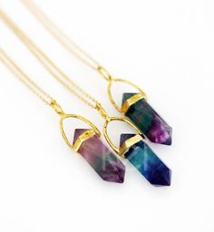 FLUORITE point necklace - petite