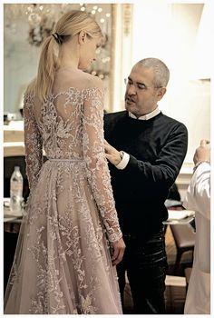 Elie Saab spring 2013 couture backstage