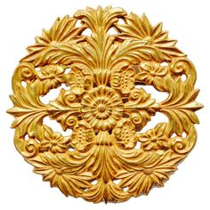 Miriam  Haskell Vintage Gold Brooch #huntersalley