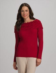 e3a2c7d2c5 Mixed Texture Sweater. Denise Braun · dressbarn
