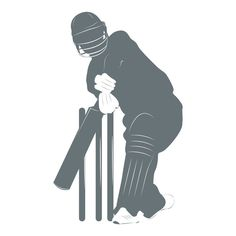 Cricketer And Wickets Silhouette Cricket Wall Stickers Sport Decor Art Decals available in 5 Sizes and 25 Colours Large Royal Blue: Amazon.co.uk: Kitchen & Home