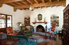 Spanish Style Homes Decor Ideas Spanish Style Homes Decor Ideas. When you want to decorate your home in a Spanish style, you will have a lot of fun. The Spanish style is very interesting with vibra… Spanish Revival Home, Spanish Colonial Homes, Spanish Style Homes, Spanish House, Adobe Haus, Estilo Colonial, Mediterranean Living Rooms, Southwestern Home, Southwest Style