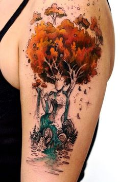 75 ideas and tips for your first or next upper arm tattoo .- 75 Ideen und Tipps für Ihr erstes oder nächstes Oberarm Tattoo – Wohnideen und Dekoration Ideas and tips for your first or next upper arm tattoo mother nature tree and river - Pretty Tattoos, Love Tattoos, Beautiful Tattoos, Body Art Tattoos, New Tattoos, Tattoos For Women, Beautiful Drawings, Tatoos, Beautiful Pictures