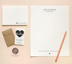 DIY Stationery Suite  Heart  INSTANT DOWNLOAD by SwellAndGrand, $25.00