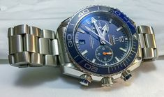 Omega Seamaster Planet Ocean Co-Axial Chronograph mm Ocean Master, Omega Seamaster Planet Ocean, Omega Seamaster Automatic, Swiss Made Watches, Apple Model, Watch Brands, Casio Watch, Chronograph, Planets