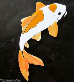 Koi fish precut stained glass mosaic inlay art kit. Many original designs selling on ebay