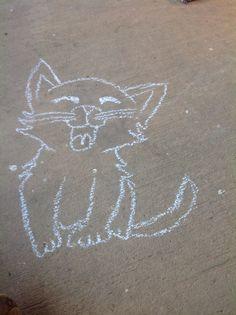 Chalk kitty