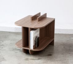 wooden side table by LUUR Design, Indianapolis | 2014 American Design Hot List via Sight Unseen