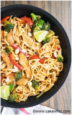 Chicken Pad Thai Recipe:   Mein Blog: Alles rund um Genuss & Geschmack  Kochen Backen Braten Vorspeisen Mains & Desserts!