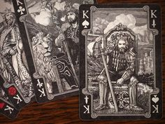Arcana Tarot Playing Cards Dark - Tuck case
