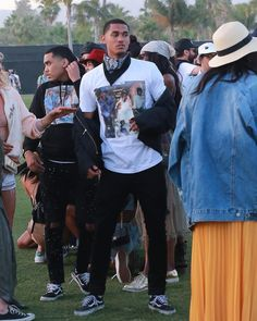 UpscaleHype LA Lakers' Jordan Clarkson paid homage to his Texas roots at Coachella wearing a Rap-A-Lot Records x Supreme 'Geto Boys' tee. The NBA player was also wearing a pair of Vans 'Old Skool' black sneakers ($60).