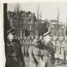 Duitse militairen en Seyss-Inquart, Fotodienst NSB, 1940 - 1944 - Tijdens oorlog tot bevrijding-Verzameld werk van Marjan Hielken - Alle…