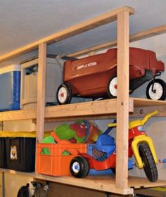 Hometalk Highlightsu0027s discussion on Hometalk. 12 Clever Garage Storage Ideas From Highly Organized People - No your garage does not HAVE to look like that. & Easy shelves to suspend from basement or garage rafters! | For the ...