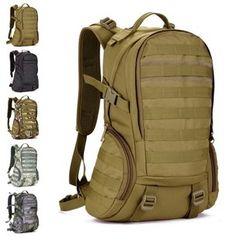 Camping bags,Waterproof Molle Backpack Military 3P Gym School Trekking Ripstop Woodland Tactical Gear for men 35L Drop Shipping $29.49