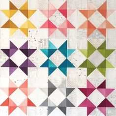 low volume plus ombre fabrics to make stars Star Quilt Blocks, Star Quilts, Scrappy Quilts, Mini Quilts, Baby Quilts, Quilting Projects, Quilting Designs, Quilting Tips, Sewing Projects