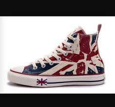 4149b8e3536 British flag converse · Cute ConverseFlagFlags · Abigail LehaneConverses