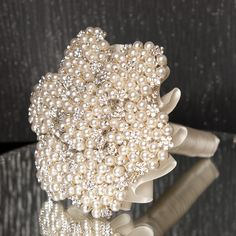 Pearl and Diamante Brooch Bouquet