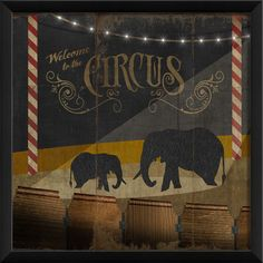 Under The Big Top Part 1 Framed Graphic Art