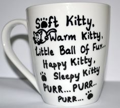 Soft Kitty Warm Kitty Sheldon Quote Coffee Mug For The Big Bang Theory Lovers, White 10 oz by DreamAndCraft, $15.00 USD