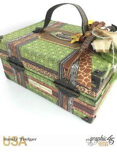 Safari Tag Travel Album With Storage Case, Safari Adventure, Tutorial by Sandy…