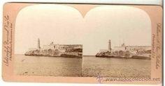 Cuba. Stereoview Morro Castle. Havana (Postales - Postales Extranjero - América - Cuba)