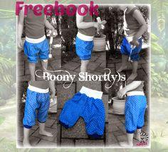 Boony Shortys von Nanoda für Webware oder Jersey mit Erweiterung als lange Hose oder Knickerbocker  Gr. 56-152