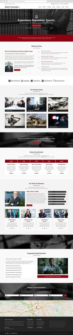 Joomla Lawyer Template - Associates - #Lawyer & #Attorney One Page Responsive #webdesign. #joomla #template #themeforest #landingpage #onepage #inspiration #law