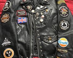 Motorcycle Leather, Motorcycle Jacket, Custom Leather Jackets, Greaser, Orange Crush, Cafe Racers, Vintage Leather, Custom Clothes, Outdoor Gear