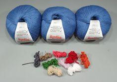Manta de ganchillo para niños con restos de lana | costurea.es/blog/