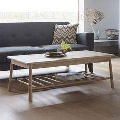 Wycombe Oak Rectangle Coffee Table with Sofa