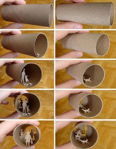 Incredible Collages Crafted inside of Tiny Toilet Paper Rolls | Designs & Ideas on Dornob