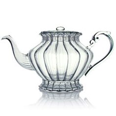 A19426 :  « Happy Lover » Teapot  hand blown glass - 0,7 l