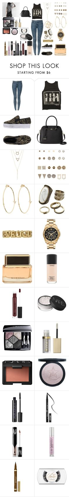 """""""Untitled #992"""" by asiebenthaler ❤ liked on Polyvore featuring Colors Of California, Kate Spade, Charlotte Russe, Jennifer Meyer Jewelry, Gemma Simone, Gucci, Michael Kors, Givenchy, MAC Cosmetics and Anastasia Beverly Hills"""