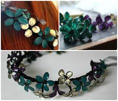 Image result for nail polish flower crown