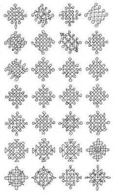 apartment kolangal with dots - Google Search