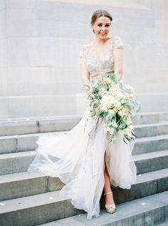 #dress  Photography: Peaches And Mint - peachesandmint.com Wedding Dress: Inbal Dror - inbaldror.co.il/en Floral Design: Flowerup - flowerup.at/