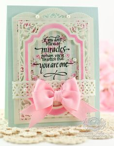 Card Making Idea by Becca Feeken using Quietfire Design - If You Don't Believe in Miracles and Spellbinders