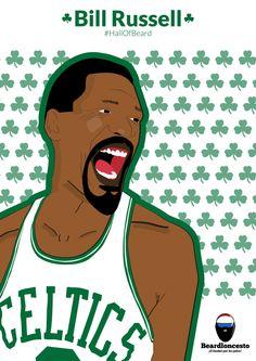 Beardloncesto.com - Bill Russell - HallOfBeard Free Download: http://beardloncesto.com/bill-russell/  #HallOfBeard #Beadloncesto  #BillRussell #NBA #BostonCeltics #Celtics