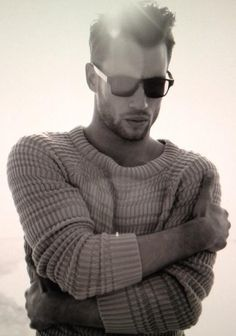 Ribbed Sweater and Shades