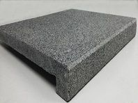 RAVEN GREY GRANITE DROP FACED REBATED POOL COPING. PRICE FROM $44 EACH INC GST 500X500X40/20MM