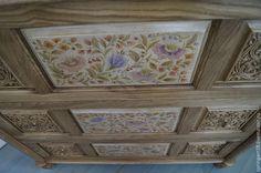 Расписная мебель. Комод с росписью. Мастерская Натальи Строгановой - золотой
