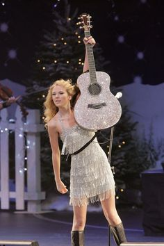 Taylor Swift's sparkly guitar.